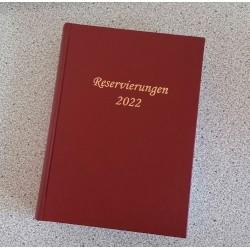 Reservierungsbuch 2022 Profi